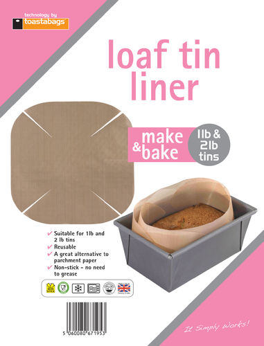 Loaf Tin Liner 1pk - Fits 1lb or 2lb