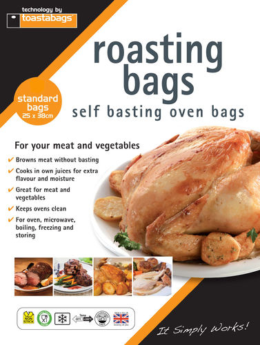 Oven Roasting Bag 8 Pack - Standard 25 x 38 cm