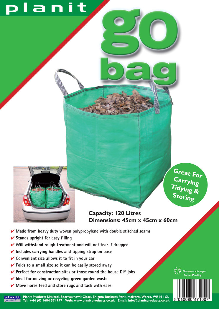 GO BAG - 120L Heavy Duty Garden Bag