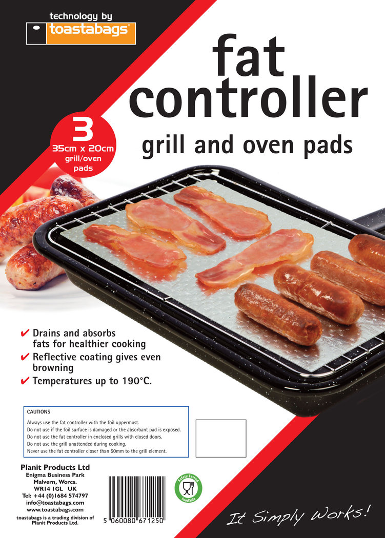 Fat Controller 3 PK. Fat absorbent cooking pads