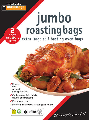 JUMBO Oven Roasting Bag 2 Pack - 55 x 60 cm