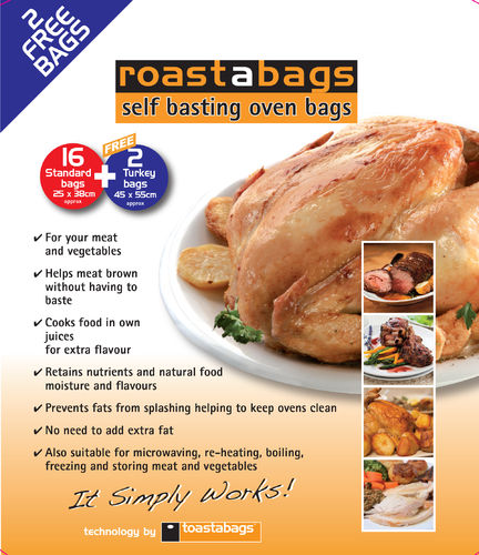 Oven Roasting Bag 16 Pack - Standard 25 x 38 cm