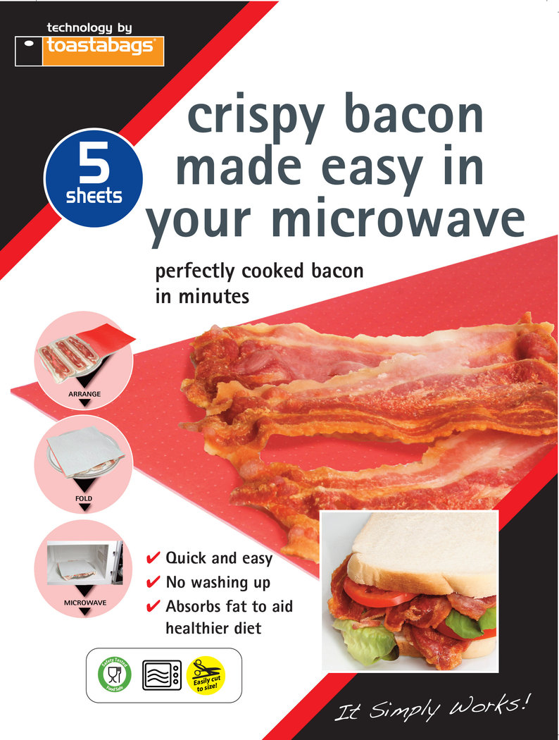 Crispy Bacon Made Easy Microwave Sheets