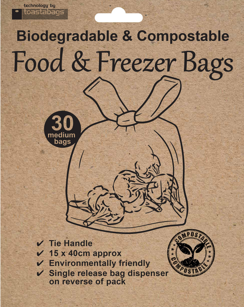Eco Food & Freezer Bags, compostable