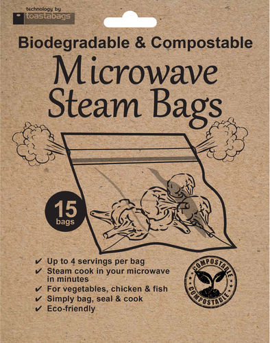 Eco Microwave Steam Bags, compostable
